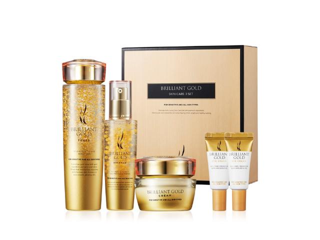 【A.H.C】黃金蝸牛玻尿酸3件套組Brilliant GOLD Skin Care 3 Set