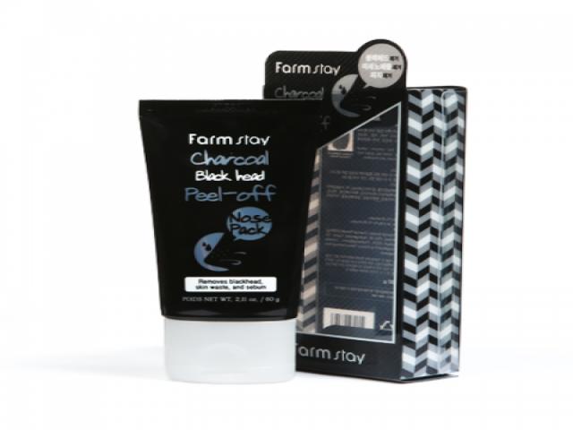 Farmstay (植物莊園)黑炭撕除式去黑頭粉刺面膜 60g